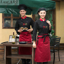 Food Service chef jacket chinese clothing store restaurant hotel kitchen chef uniform women men black cook clothes BB082