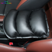 Car Center Armrests Cover Protective Pad mats For ford focus 2 3 fiesta mondeo fusion kuga transit mustang
