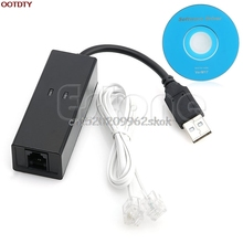USB 2.0 56K Data V.92/V.90 Telephone Fax Modem Cable Windows XP Win10, Win8, Win7 #H029#