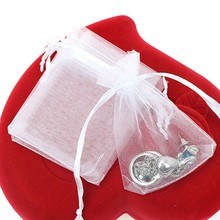 50 Pcs Pure Color Organza Wedding Drawable Pouch Jewelry Package Gift Bag(China)