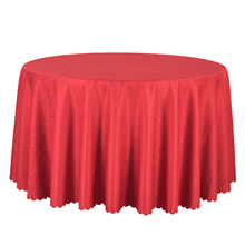 10PCS Solid Jacquard Round Table Covers Decor Wedding Banquet Hotel Tablecloths Red Gold Striped Table Cloth Dining Table Linen