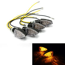 4pcs Amber Light Universal 15 LED Motorcycle Turn Signal Indicators Lights/lamp Clear Free shipping D05