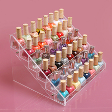 Six layers removable cosmetic nail polish display rack acrylic display stand  makeup organizer free shipping