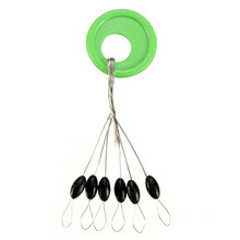 100pcs/lot 6 in 1 Size S/M/L Black Rubber Oval Stopper Fishing Bobber Float Connector Fishing Tackle Accessories(China)