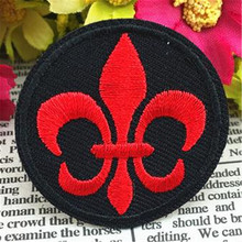 Embroidered iron on patches for clothes retro flower logo deal with it clothing biker patch DIY Motif Applique Free shipping