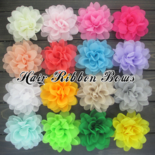 "Toplay 80pcs/lot  4.5""Chiffon Rose Flowers Top Petti Skirt Chiffon Flower Boutique Flower For Wedding Decoration Accessories"
