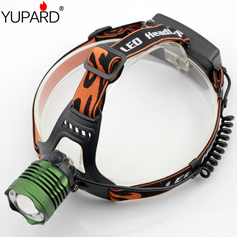 YUPARD Q5 LED HeadLight zoomable Headlamps white blue LED camping fishing power zoom Head Light use 18650 rechargeable battery(China (Mainland))