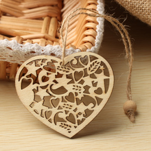 10 PCS New Stylish Snowflakes&Deer&Tree Wooden Pendants Ornaments Christmas Party Decorations DIY Xmas Tree Ornaments Kids Gifts(China)