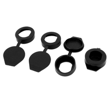 4pcs Black Rubber Key Panel Cam Lock Dust Cover Waterproof Caps