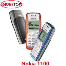1100 Original Nokia 1100 Unlocked GSM 2G Mobile Phone Random Color Delivery Black and White Display Cheap Refurbished Cell Phone(China)