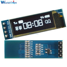 Free Shipping 0.91 Inch 128x32 IIC I2C White OLED LCD Display DIY Oled Module SSD1306 Driver IC DC 3.3V 5V For Arduino PIC