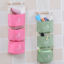 Special offer Wall Mounted 3 pocket Storage Bags bathroom kitchen supplies Fluid Systems Multilayer Pouch(China)