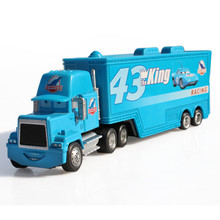 Pixar Cars Truck combination McQueen Metal Container 1:50 car Toy For Children Alloy Metal kid's toy(China)