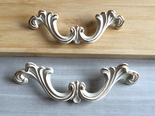 "2.5"" 3.75"" Shabby Chic Dresser Pull Drawer Pulls Door Handles Silver Black French Country Vintage Furniture Cabinet Knobs Pull"