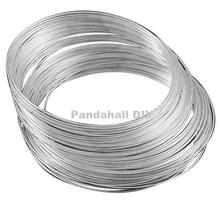 Steel Memory Wire, Necklaces Making, Nickel Free, Platinum, 115x1.8mm; about 130 circles/1000g