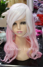 (Free Shipping)Pale pink Hair Anime Long Cosplay