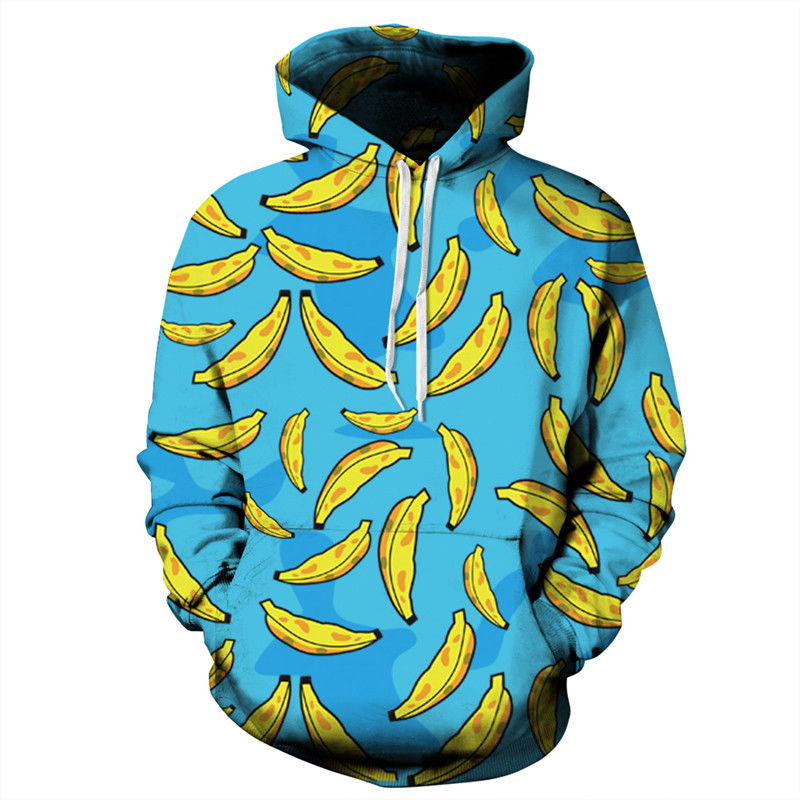 Fashion 3D Print Banana Hoodies Men/Women Sweatshirt Hooded Casual Long Sleeve Loose Thin Pullover Tracksuits