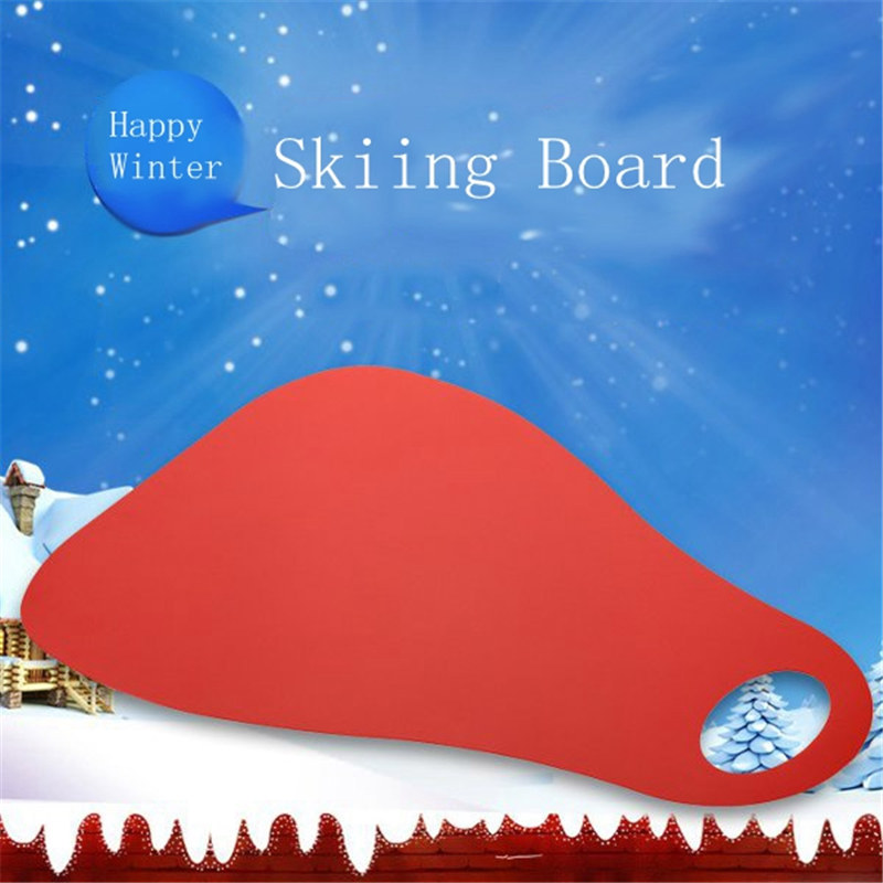 Newest Outdoor Thicken Plastic Skiing Boards Ski Pad Children Plastic Snow Sledge Sled For Winter Sports Skis Snowboard(China)