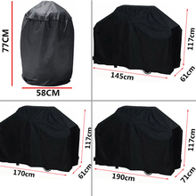 Black Waterproof BBQ Grill Barbeque Cover Outdoor Rain Grill Anti Dust Protector For Gas Charcoal Electric Barbecue Bag