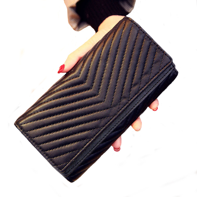 New European Fashion PU Leather Women Wallets Zipper Wallet Phone Pouch Female Purses designer wallet women luxury brand 2017<br><br>Aliexpress