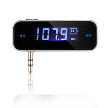 Wireless Mini FM Transmitter Car MP3 Player LCD Display 3.5mm In-car Music Audio Transmitter Modulator For Mobile Phones
