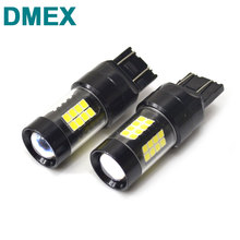 DMEX 2 PCS T20 7440 W21W  W21/5W T20 7443 LED Switchback with White Red Yellow Amber Color 7440 7443 LED Bulb 43SMD 2835 3528