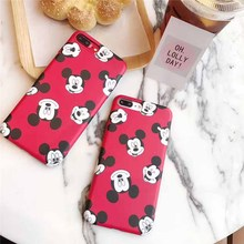 JiBan For iphone 7 7Plus Case Mickey Mouse Soft TPU IMD Case Cute Cartoon Phone Cases for iphone 6 6s 6Plus 6sPlus Cover(China)