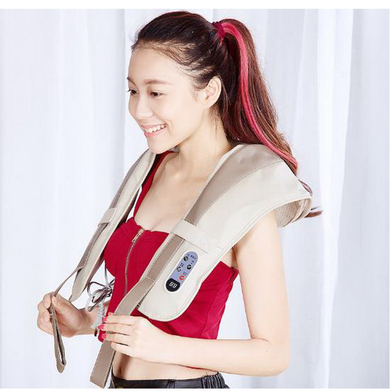 121219/Massage shawl/neck/waist/Massage shawl Kneading massage cape Red-light heating therapy Body massage device<br>