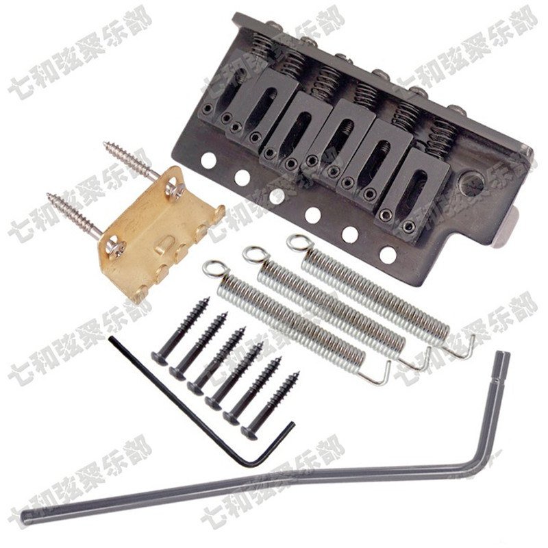 A Set Black Thickened Base Left handed Electric Guitar 6 String Saddle Tremolo Bridge System <br>