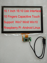 10.1 Inch Usb Interface Capacitive Touch Support WIN7 WIN8 WIN10 Raspberry Pi Android Linux For Carpc Diy Tablet Pc Industrial c