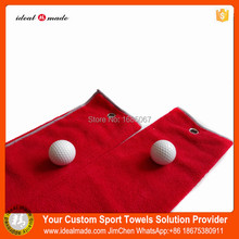 Golf Ball New cusotm Microfiber golf Towels For Adults Big Printed label golf ball Drying Washcloth(China)