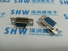 NEW 50PCS DB9 female serial wire welding wire 9-pin RS232 connector