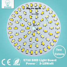 Warm/Cold White two color in one PCB 3W 5W 7W 9W 12W 15W 18W 5630/ 5730 SMD Light Board Led Lamp Panel For Ceiling PCB With LED(China)