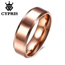 SALE 2017 Fashion popular ring tungsten men rose gold women lady hot unique opal crystal CYPRIS wholesale hot cool punk