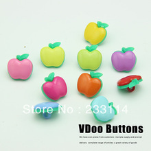 A56 Button clasp big apple clasp children's clothing wholesale new diy type button sweater cartoon cute buttons clothing set(China)