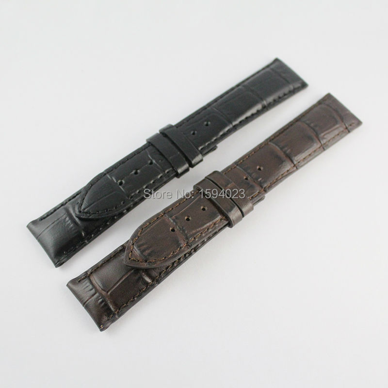 20mm (Buckle18mm) T097 Male money Black or Brown Genuine Leather  Watch Bands Strap<br>