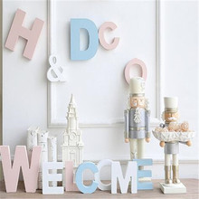 2017 the latest home accessories 10cmA to Z a variety of colors of letters creative Wooden Letters Family Wedding movie letters
