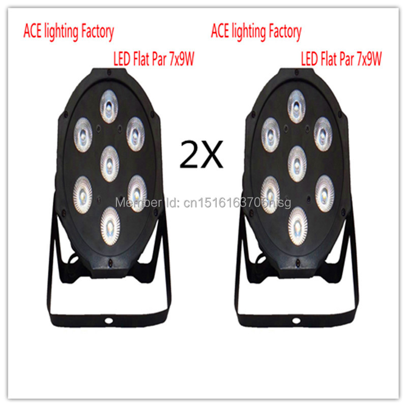 2 pieces Promotional Packaging  LED SlimPar 7x9W RGB 3IN1 LED DJ Wash Light Stage Uplighting Free&amp;Fast Shipping<br>