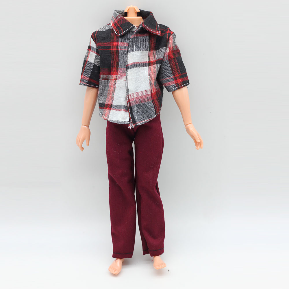1pcs Fashion Casual Clothes Shirt + Trousers For Barbie Boyfriend Ken Dolls S(China)
