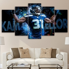 Modern Home Decor Modular Poster Wall Art Sports Football Pictures Frame 5 Pieces Rugby Player Painting HD Printed Canvas PENGDA