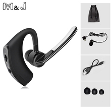 M&J V8 Handsfree V4.1 Bluetooth Wireless Headset Headphone Ear Hook Voice Control With MIC For Driving Iphone Samsung