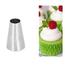 #1A Round Tips Stainless Steel Buttercream Piping Tips Nozzle Cupcake Icing Tools Pastry Tube Bakery KH073(China)