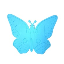 Butterfly Shape silicone dining table placemats coaster coffee drinks kitchen accessories cup bar mug placemats coaster mats D39(China)