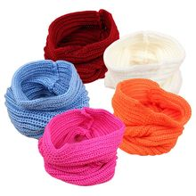 New Fashion Baby Kids Autumn Winter Warm Knit Scarf Boy Girl Toddler Crochet Knitted Scarves HT