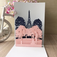 20pcs Laser Cut Love Theme and Europe Handmade 3D card Engagement Unique designBusiness Wedding Invitation card best wishes card(China)