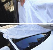 Accessories MAGNETIC Auto Snow Cover Car Windshield Windscreen Shade Sunshade Sun Visor Blind Front Window Screen Ice Frost(China)