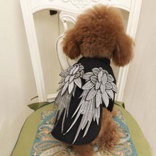 Fashion Summer Spring Dog Vest Embroidery Wing Dog Clothes Luxury Pet Clothing Cool Punk Style Puppy Cat Clothes