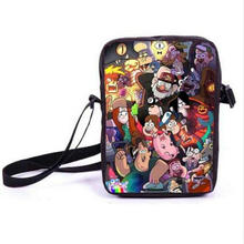 Anime Gravity Falls Mini Messenger Bag Mabel Dipper Schoolbags Boys GIirls School Bags For Snacks Kids Children Best Gift Bag(China)