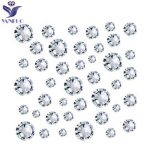 YANRUO Rhinestones Flatback 3D Nail Art Decorations Costura Crystal Clear Strass Glass Non Hotfix Rhinestones Glue Nails Clothes(China)