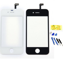 Front Lens LCD Protector Digitizer Touch Screen Glass For Phone 4S 4G 5G 5S 5C 6 6 Plus Touch 4  Replace & tools Adhesive